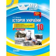 Мій конспект Історія України 10 клас Рівень стандарту Мокрогуз О. П. Вид-во: Основа